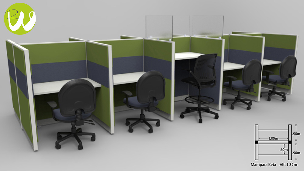 Muebles para call center en monterrey por riwell somos for Muebles para call center