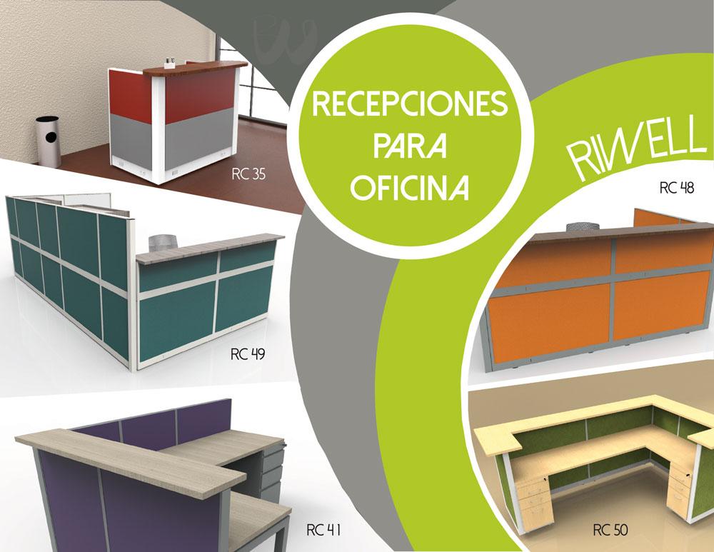 Muebles para oficina en monterrey venta por riwell for Recepciones para oficina